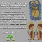 27 de setembro é dia de São Cosme e Damião e dos Erês da Umbanda