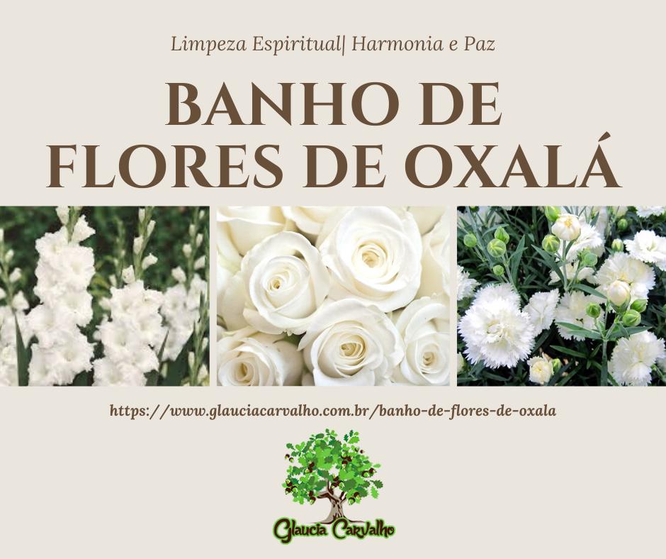 Banho de flores de Oxalá na Umbanda