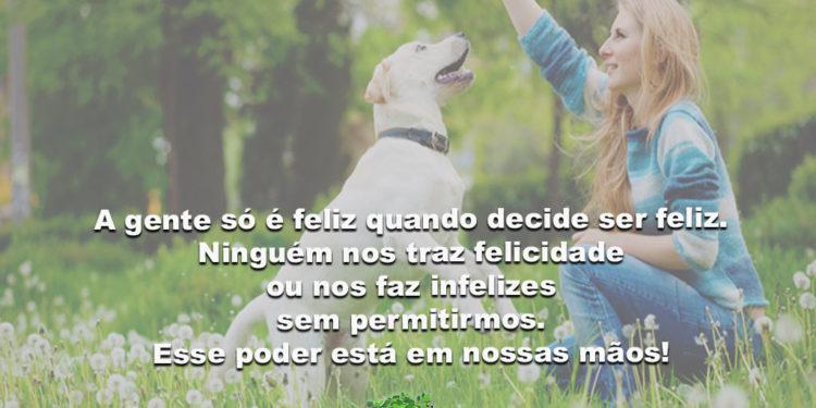 A gente só é feliz quando decide ser feliz. A felicidade está nas escolhas…