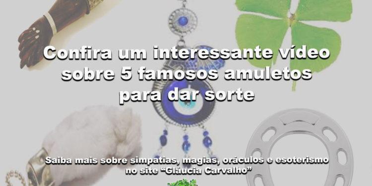Confira um interessante vídeo sobre 5 famosos amuletos para dar sorte