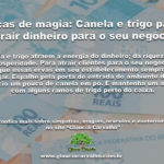 Dicas de magia: Canela e trigo para atrair dinheiro para o seu negócio