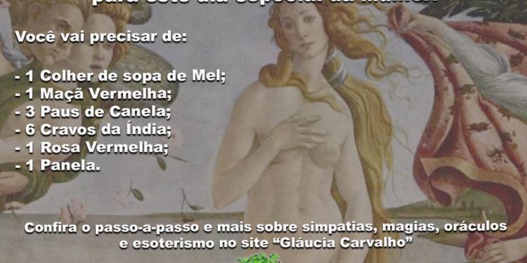 Confira um banho de Vênus para este dia especial da Mulher!