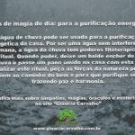 Dicas de magia do dia: para a purificação energética
