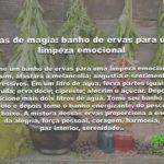 Dicas de magia: banho de ervas para uma limpeza emocional