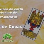 Previsão da carta de tarô de 07-08-2018: Ás de Copas