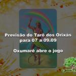 Previsão do Tarô dos Orixás para 07 a 09.09: Oxumarê abre o jogo