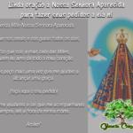Linda oração a Nossa Senhora Aparecida para fazer seus pedidos a ela!