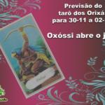 Previsão do tarô dos Orixás para 30-11 a 02-12: Oxóssi abre o jogo
