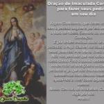 Oração de Imaculada Conceição para fazer seus pedidos em seu dia