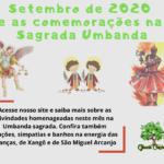Setembro de 2020 e as comemorações na Sagrada Umbanda
